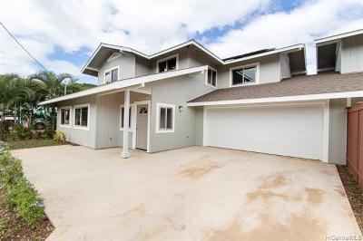 Waialua Single Family Home For Sale: 67-221a Kuhi Street