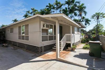 Waialua Single Family Home For Sale: 67-171 Kuhi Street