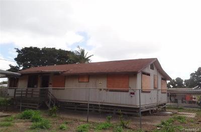 Single Family Home For Sale: 84-865 Lahaina Street