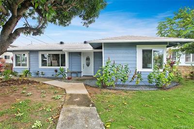 Kailua Single Family Home For Sale: 607 Oneawa Street