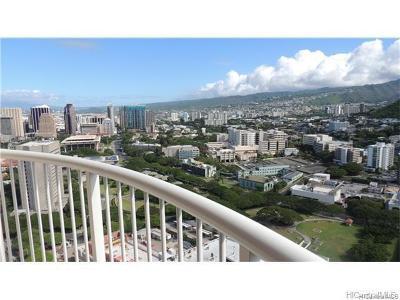 Central Oahu, Diamond Head, Ewa Plain, Hawaii Kai, Honolulu County, Kailua, Kaneohe, Leeward Coast, Makakilo, Metro Oahu, North Shore, Pearl City, Waipahu Rental For Rent: 801 S King Street #4007