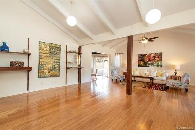 Honolulu Single Family Home In Escrow Showing: 468 Kaleimamahu Street