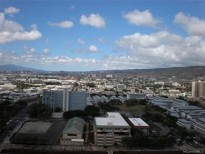 Central Oahu, Diamond Head, Ewa Plain, Hawaii Kai, Honolulu County, Kailua, Kaneohe, Leeward Coast, Makakilo, Metro Oahu, North Shore, Pearl City, Waipahu Rental For Rent: 60 N Beretania Street #2705
