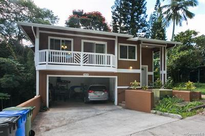 Honolulu County Single Family Home For Sale: 1817 Kalie Place #D