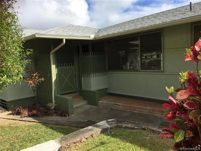 Honolulu Rental For Rent: 273 Moomuku Place