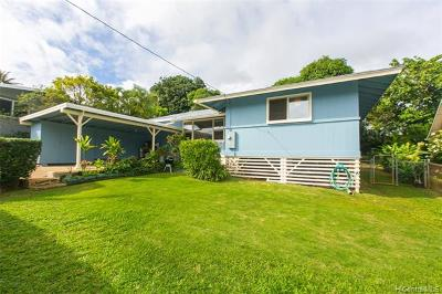 Kailua Single Family Home For Sale: 1319 Lekeona Street