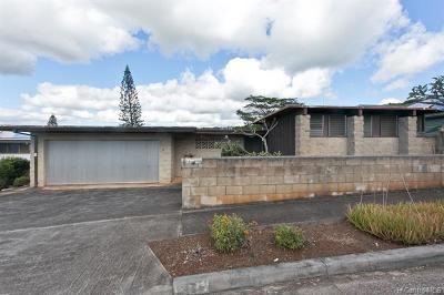 Aiea Single Family Home For Sale: 98-1314 Kulawai Street