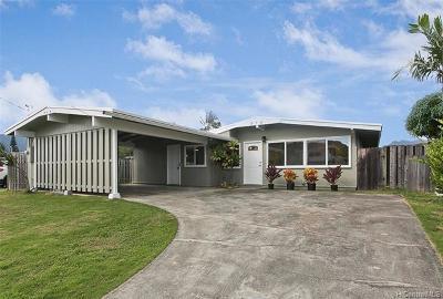 Kailua Single Family Home For Sale: 552 Palawiki Street