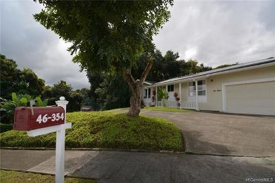 Kaneohe Single Family Home For Sale: 46-354 Nahewai Street