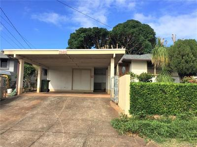 Pearl City Single Family Home For Sale: 1146 Hookahi Street