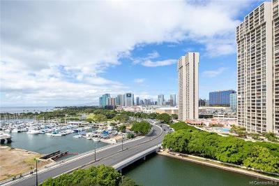 Honolulu Condo/Townhouse For Sale: 1676 Ala Moana Boulevard #1109