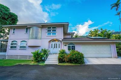 Single Family Home For Sale: 2752-F Pali Highway