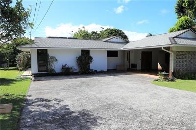 Wahiawa Single Family Home For Sale: 1655a Walea Street