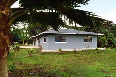 Kaneohe Single Family Home For Sale: 47-155 Ahaolelo Road