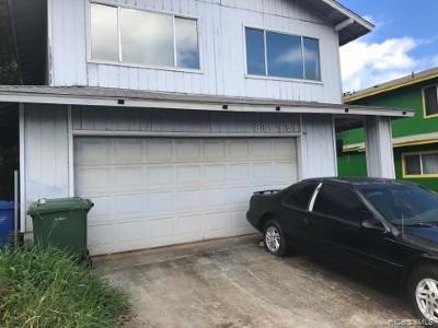 Single Family Home For Sale: 86-121 Leihoku Street