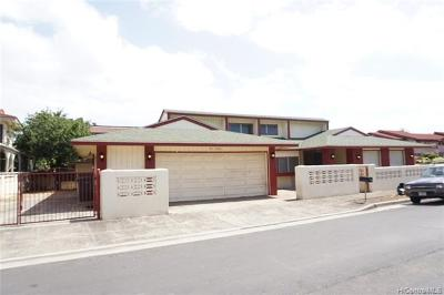 Waipahu Single Family Home For Sale: 94-1094 Kuhaulua Street