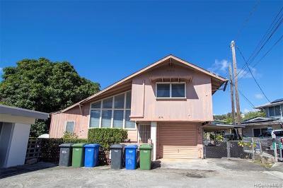 Honolulu Single Family Home For Sale: 1674 Hauiki Street #A