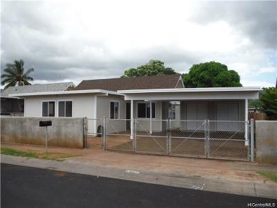 Waianae Single Family Home For Sale: 87-678 Manuaihue Street