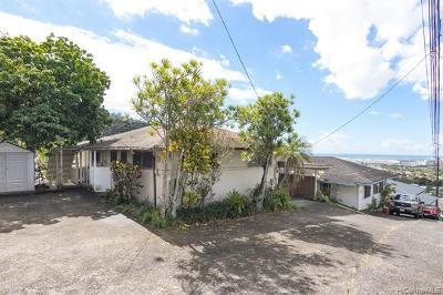 Honolulu Single Family Home For Sale: 2671 Anuu Place #K