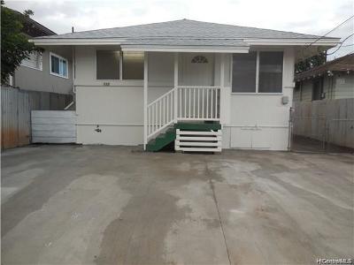 Honolulu Single Family Home For Sale: 735 Kopke Street
