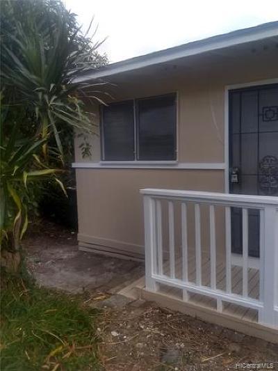Honolulu Single Family Home For Sale: 1744 Kamohoalii Street #1