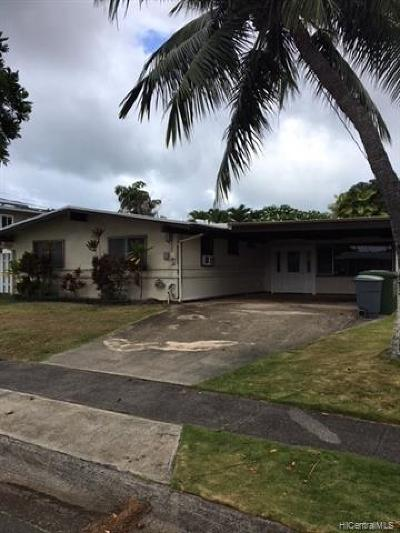 Single Family Home For Sale: 949 Alahaki Street