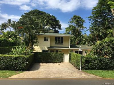 Kailua Single Family Home For Sale: 1210 Aalapapa Drive #B
