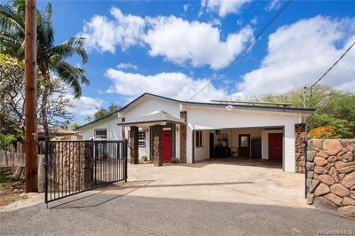 Single Family Home For Sale: 87-865 Ehu Street
