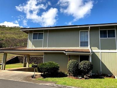 Aiea Single Family Home For Sale: 98-341 Kilihe Way #34