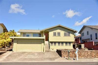 Aiea Single Family Home For Sale: 98-1902 Hapaki Street