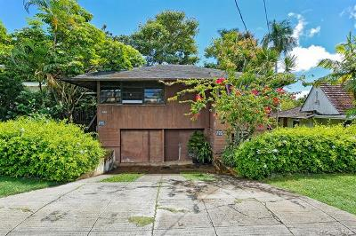 Single Family Home For Sale: 1935 Makiki Street