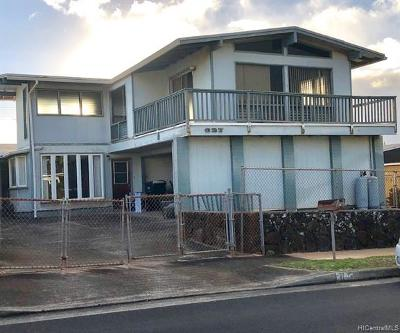 Pearl City Single Family Home For Sale: 627 Hookanike Street