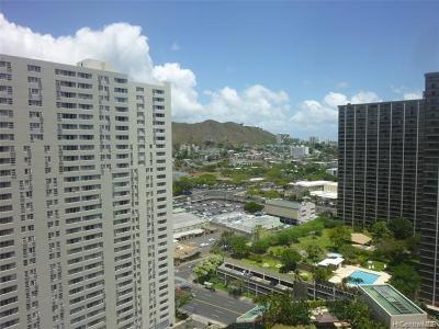 Central Oahu, Diamond Head, Ewa Plain, Hawaii Kai, Honolulu County, Kailua, Kaneohe, Leeward Coast, Makakilo, Metro Oahu, North Shore, Pearl City, Waipahu Rental For Rent: 60 N Beretania Street #2507