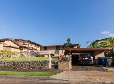Mililani Single Family Home For Sale: 95-191 Wailawa Street
