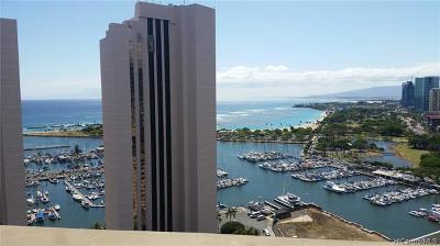 Central Oahu, Diamond Head, Ewa Plain, Hawaii Kai, Honolulu County, Kailua, Kaneohe, Leeward Coast, Makakilo, Metro Oahu, North Shore, Pearl City, Waipahu Rental For Rent: 1700 Ala Moana Boulevard #3102