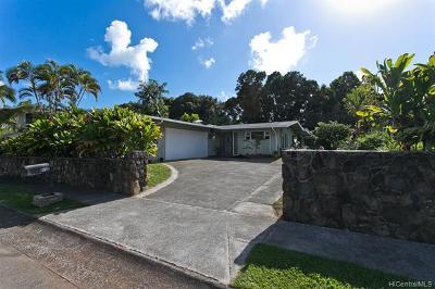 Kailua Single Family Home For Sale: 1012 Lunaai Place