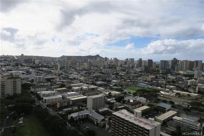 Honolulu, Kailua, Waimanalo, Honolulu, Kaneohe Rental For Rent: 1212 Punahou Street #3405