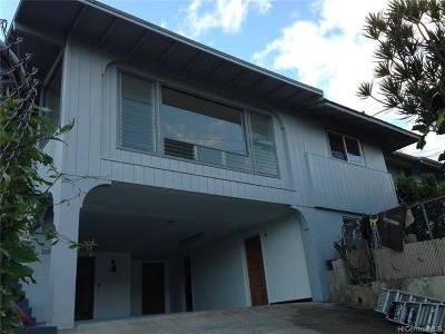 Honolulu Single Family Home For Sale: 2438 Kula Kolea Drive