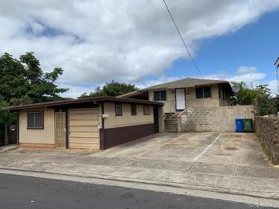 Honolulu Single Family Home For Sale: 1124 Ukana Street