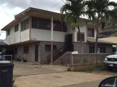 Waianae Multi Family Home For Sale: 87-876 Ehu Street