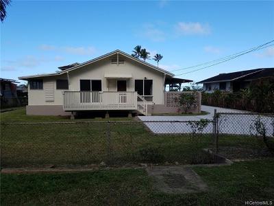 Kaaawa Single Family Home For Sale: 51-283 Kekio Road #1
