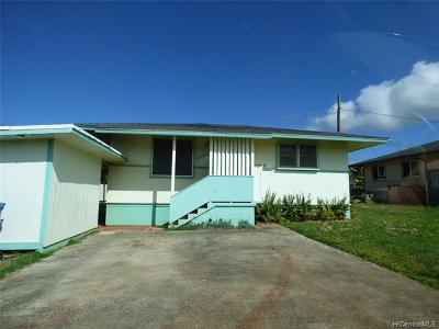 Wahiawa Single Family Home For Sale: 102e Kilea Place #E