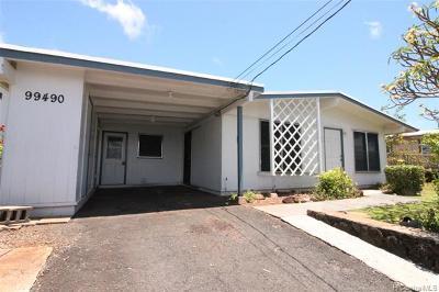 Aiea Single Family Home For Sale: 99-490 Iwaiwa Street