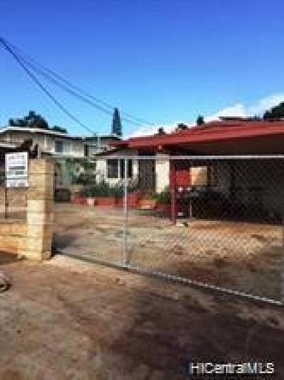 Waipahu Single Family Home For Sale: 94-862 Lumihoahu Street