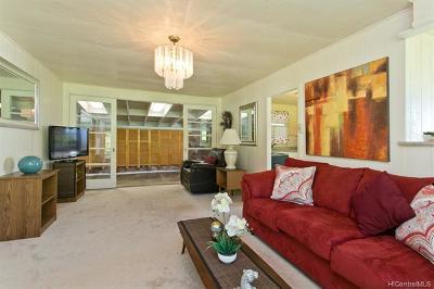 Aiea Single Family Home For Sale: 99-1605 Hoapono Place