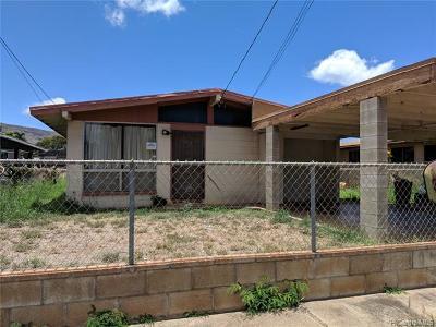 Waianae Single Family Home For Sale: 87-1731 Mohihi Street