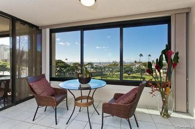 Honolulu County Condo/Townhouse For Sale: 1600 Ala Moana Boulevard #504