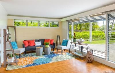 Kailua Single Family Home In Escrow Showing: 241 N Kainalu Drive