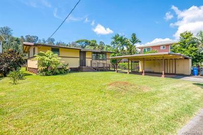 Mililani Single Family Home For Sale: 95-159 Waimakua Drive