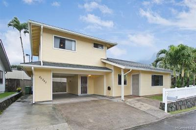Kaneohe Single Family Home For Sale: 45-542 Malio Place